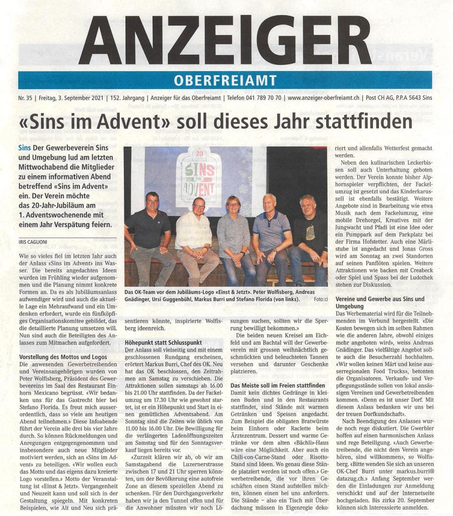 Anzeiger-Oberfreiamt-Sins-im-Advent-3.9.2021